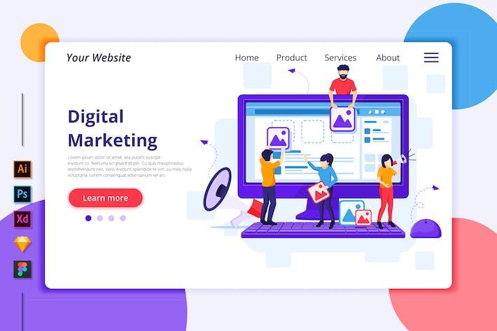 Thumbnail for Agnytemp - Digital Marketing Illustration v5