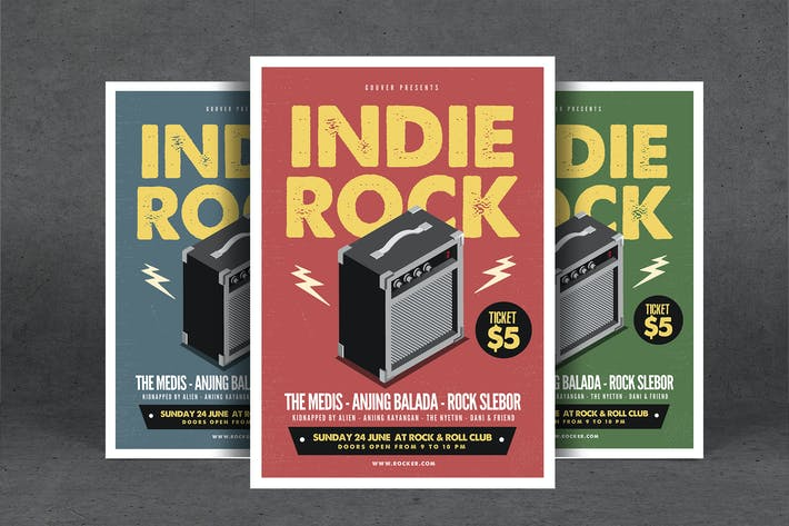Thumbnail for Indie Rock Event Flyer
