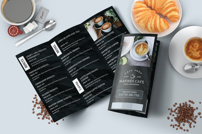 Thumbnail for Coffee Restaurantd Menu Trifold