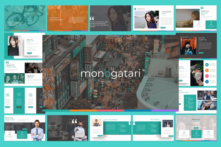 Thumbnail for Monogatari Powerpoint Template