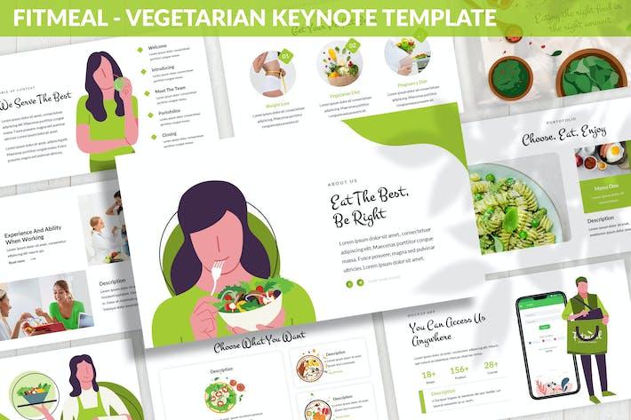 Fitmeal - Вегетарианский Шаблон Keynote
