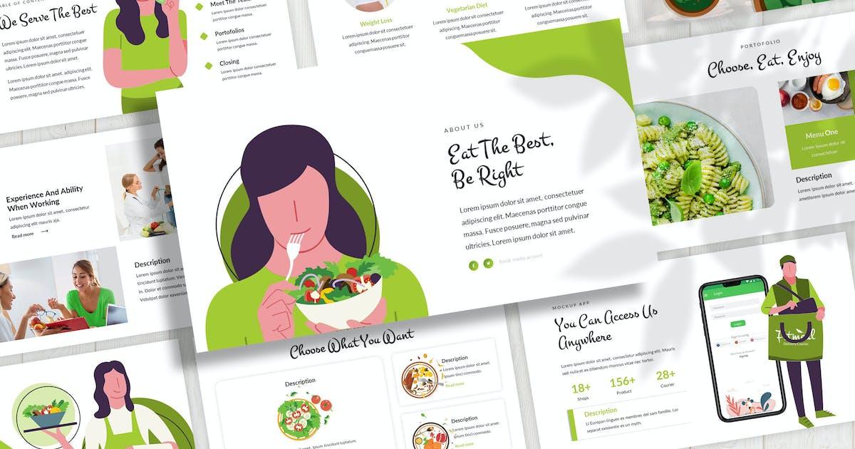 Download Fitmeal - Vegetarian Keynote Template by SlideFactory