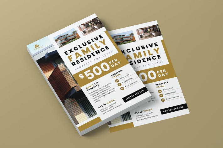 Thumbnail for Family Residence Property AI and PSD Flyer Vol.3