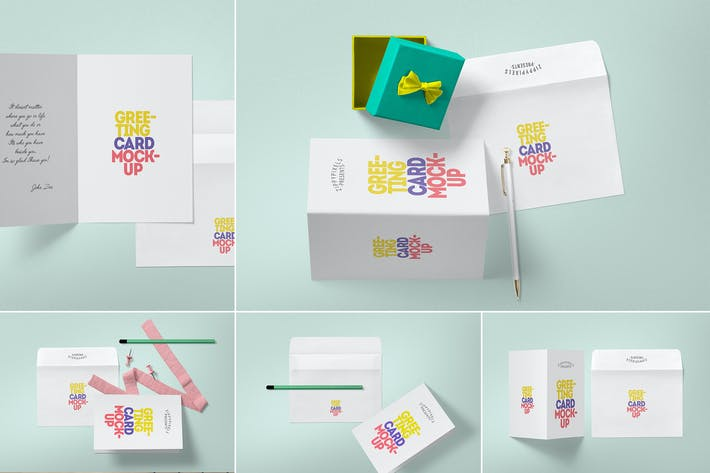 Thumbnail for Invitation & Greeting Card Mockup