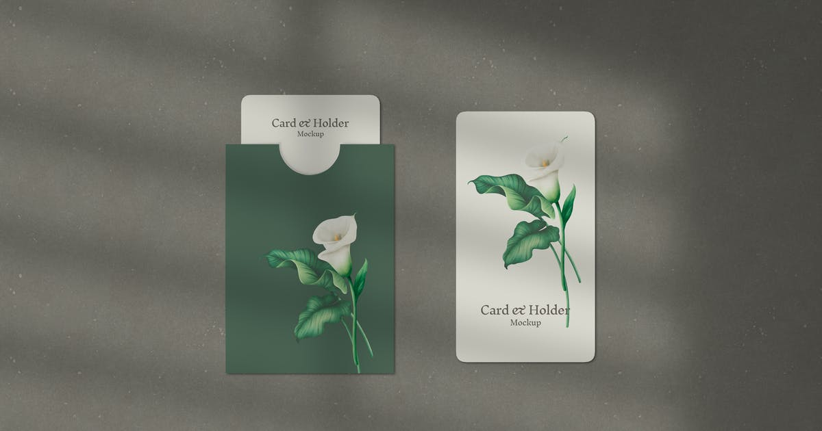 Download Card and Holder Mockup by artimasa_studio