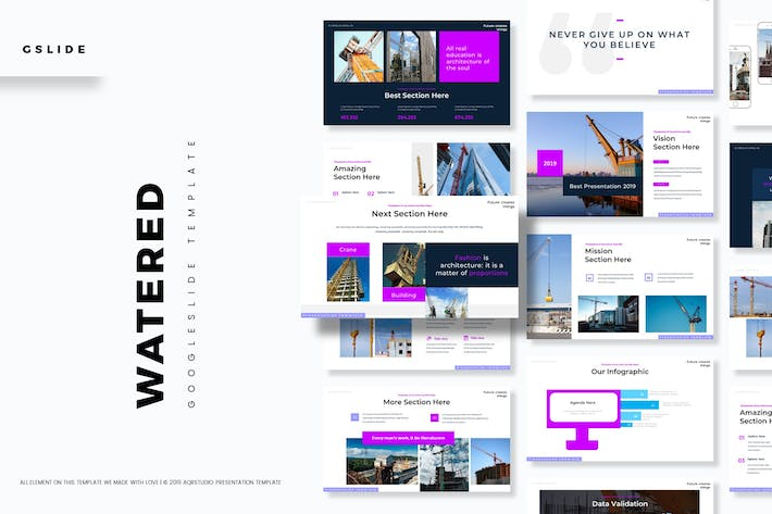 Thumbnail for Watered  - Google Slides Template