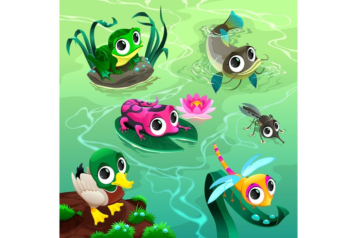 Thumbnail for Animals in the Pond