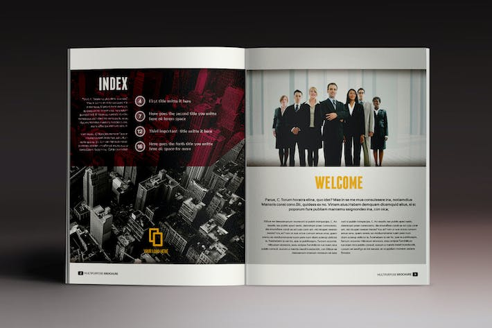 Multipurpose Brochure Indesign Template By Luuqas On Envato Elements