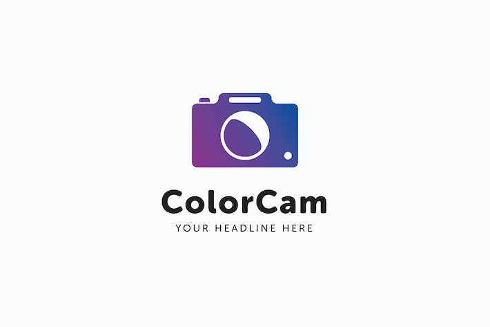 Thumbnail for Color Cam Logo Template