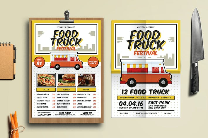Download Pizza Graphic Templates Envato Elements - Food truck flyer template