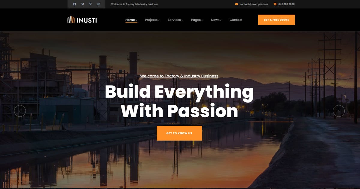 Download Inusti – Factory & Industrial WordPress Theme by gavias