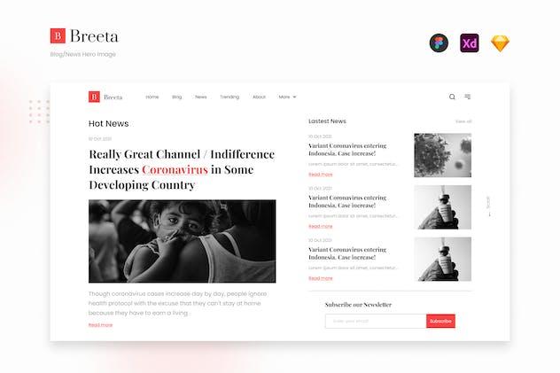 Breeta - Clean Minimalist Blog News Hero Image