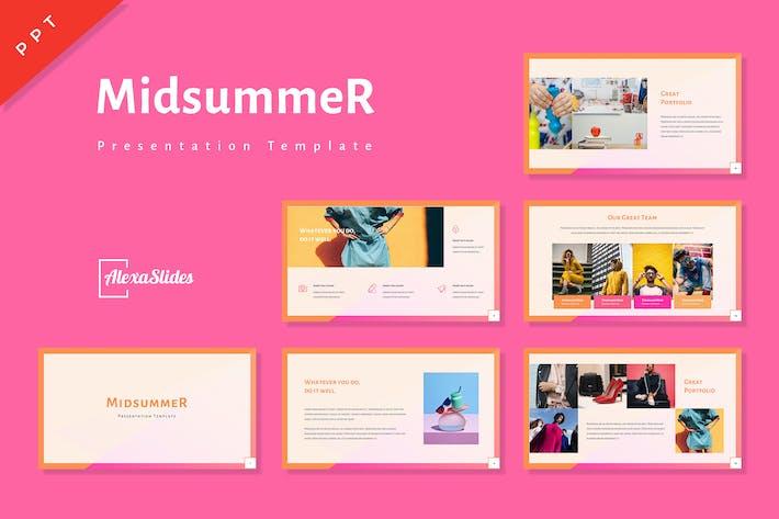 Thumbnail for Midsummer - Creative Powerpoint Template