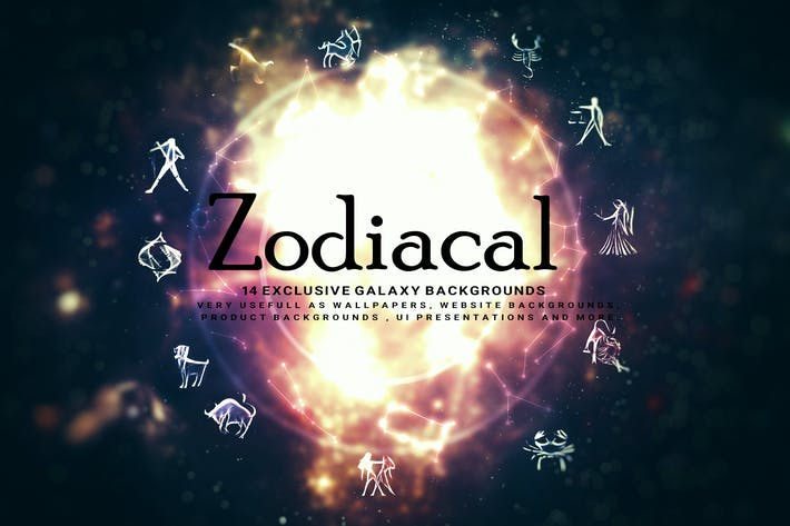 Cover Image For Abstract Zodiacal Backgrounds