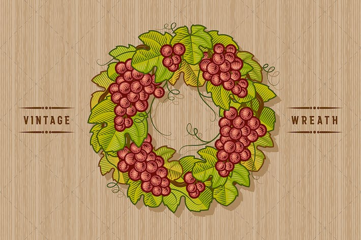 Thumbnail for Retro Grapes Wreath