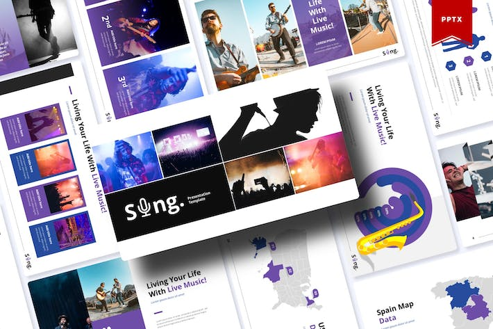 Thumbnail for Sing| Powerpoint Template