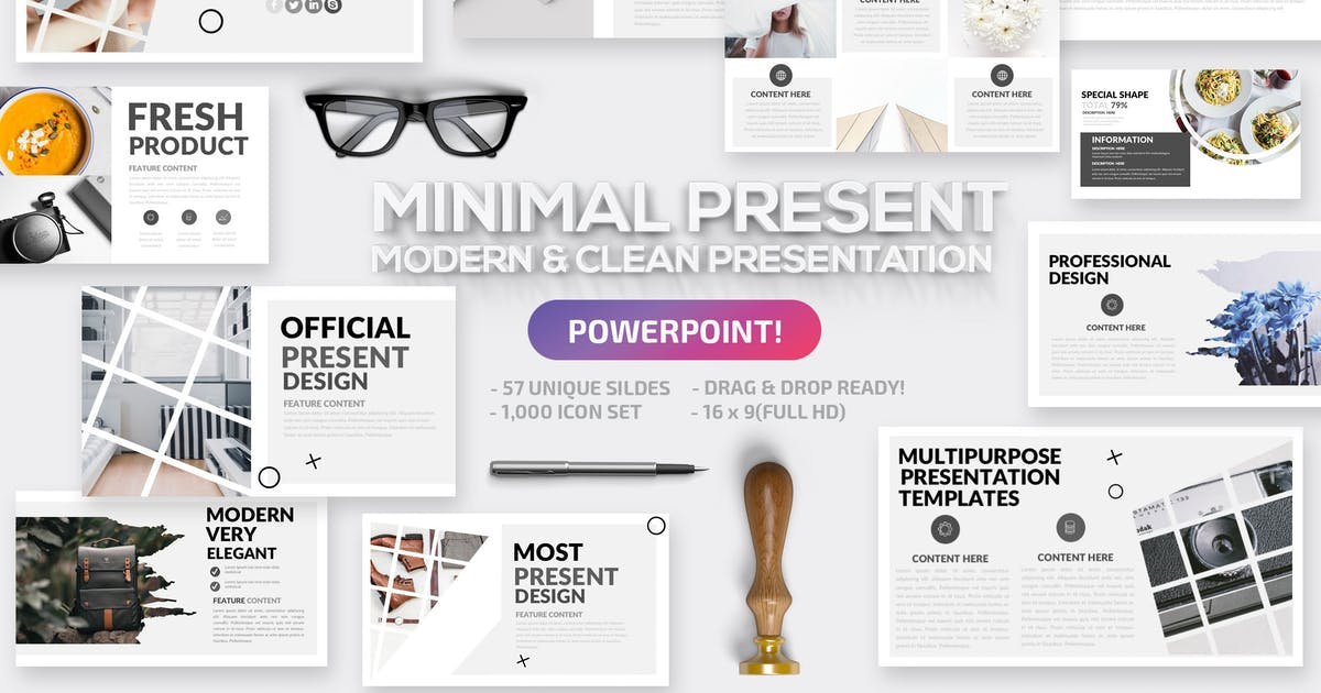 Download Minimal Powerpoint Template by mamanamsai