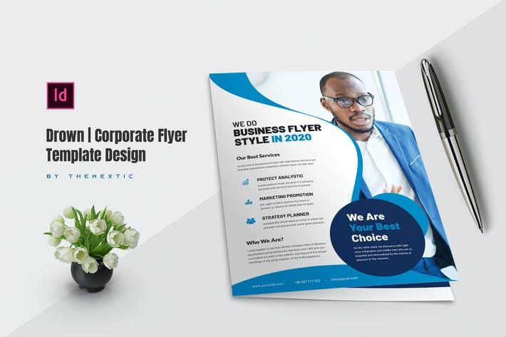Thumbnail for Drown   Corporate Flyer Template Design