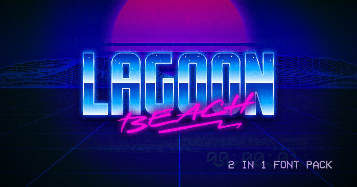Download Lagoon Beach – 2 in 1 Font Pack by CkyBe