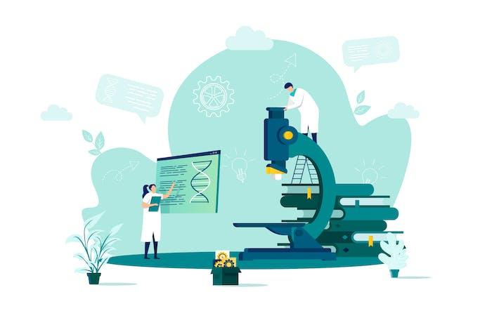 Thumbnail for Medical Lab Flat Concept Vector Illustration
