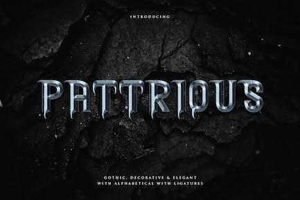Pattrious - Elegant Gothic Display Typeface