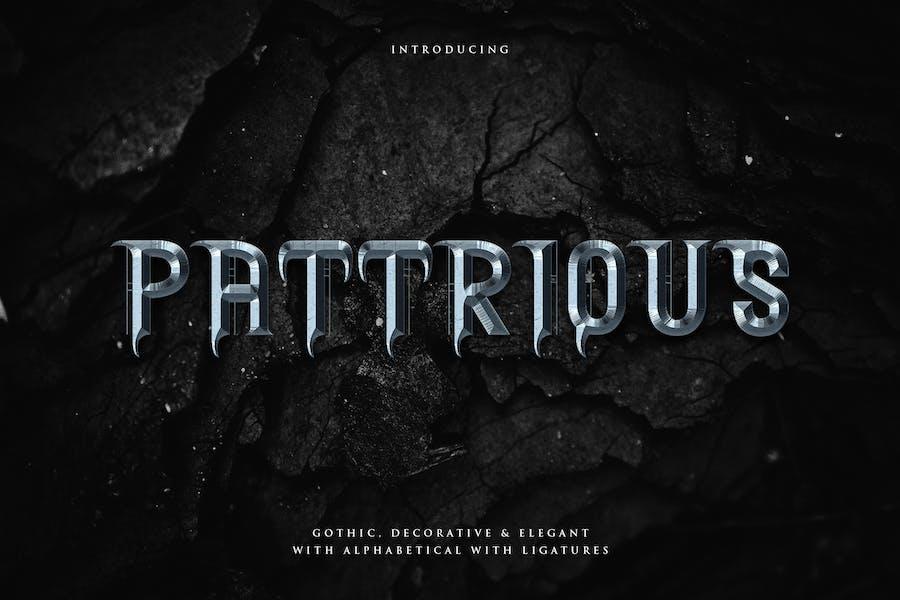 Pattrious - Элегантный готический дисплей Typeface