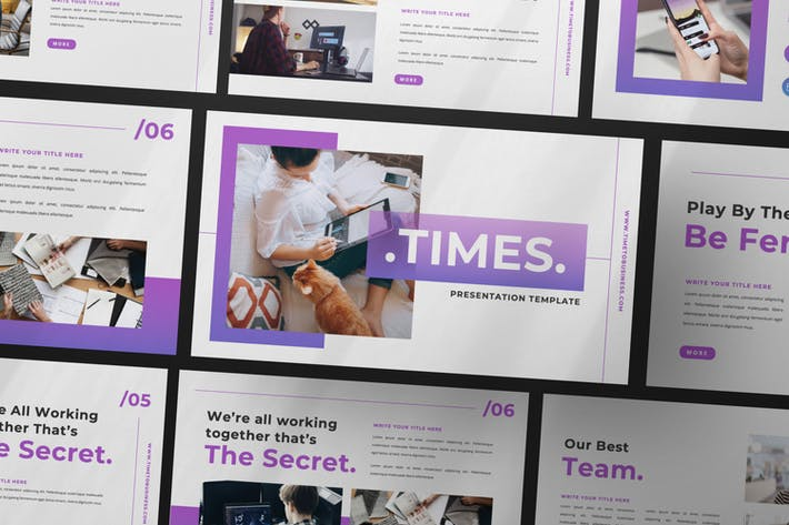 Times Business Presentation Template