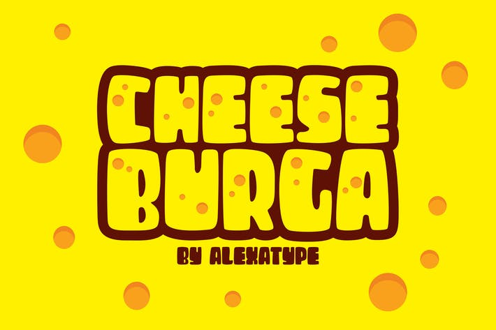 Thumbnail for CHEESEBURGA - Chubby Cute Font