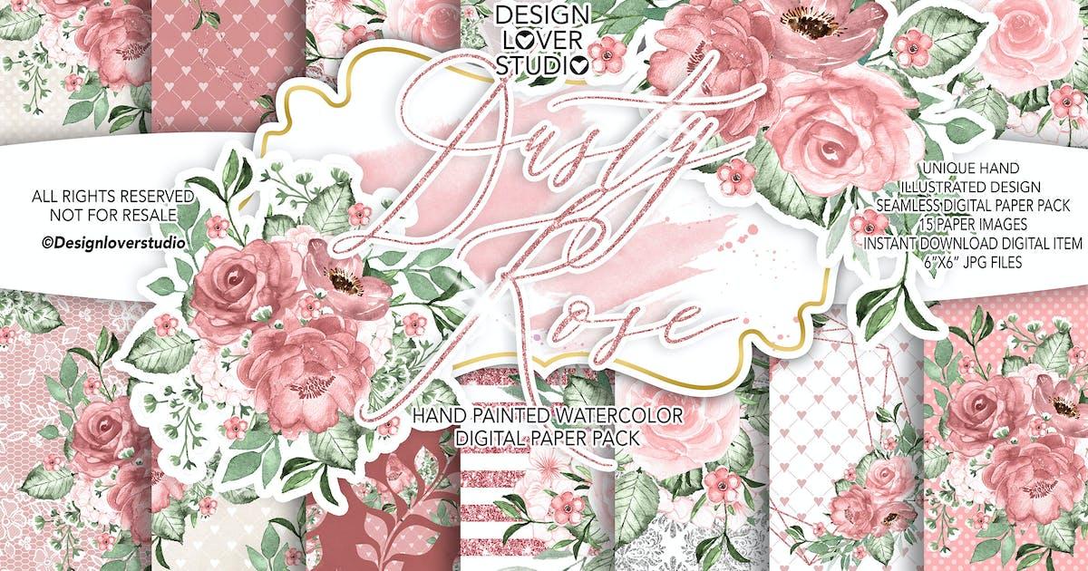 Download Dusty Rose digital paper pack by designloverstudio
