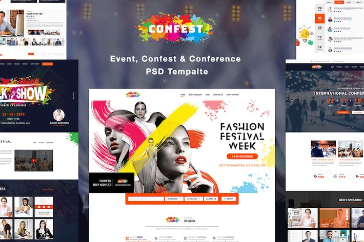 Thumbnail for ConFest - Multi-Purposes Event and Conference PSD