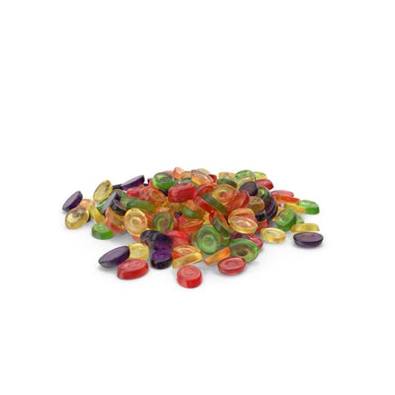Pile of Oval Hard Candy
