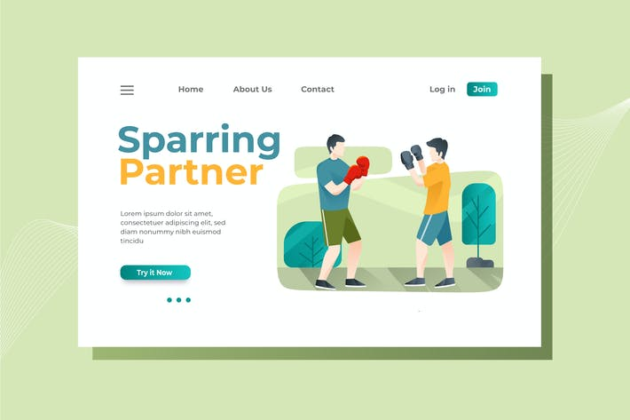 Thumbnail for Boxing Landing Page Illustration