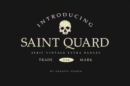 Saint Quard Tipo de letra