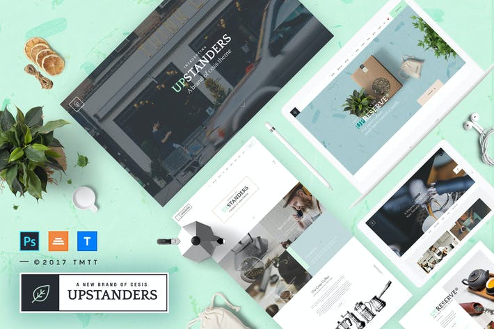 Thumbnail for UpStanders Cafe | Coffee Shop PSD Template
