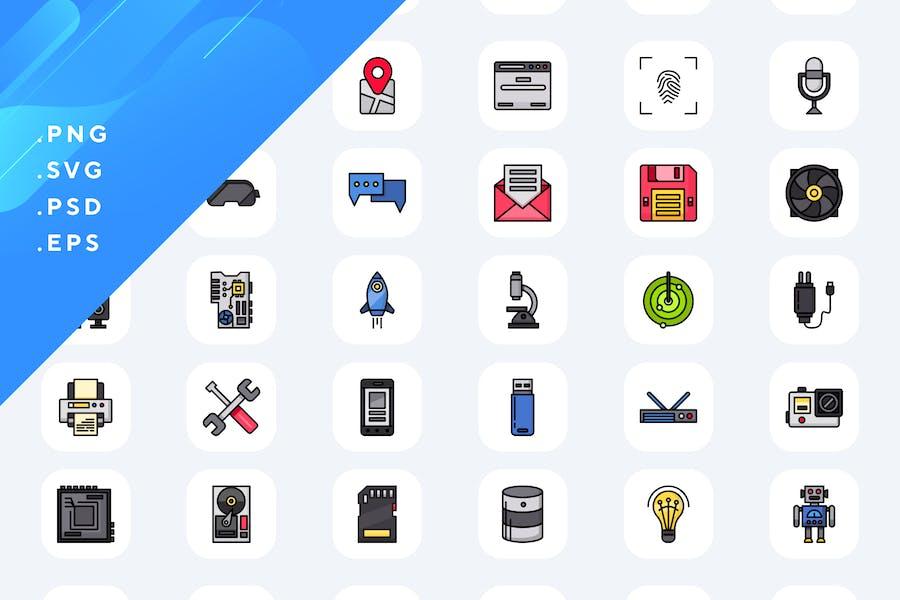 50 Íconos de tecnología
