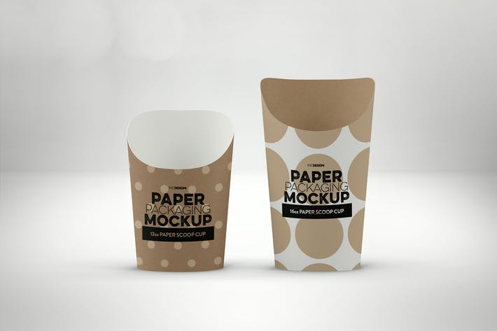 Thumbnail for Paper Scoop Cups Packaging Mockup