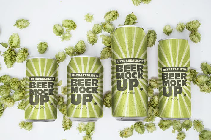 Thumbnail for Different Size Beer Can Mockups