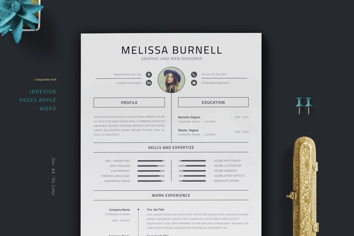 Thumbnail for Resume / Cv / Template