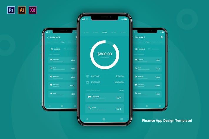 Thumbnail for Finance App Design