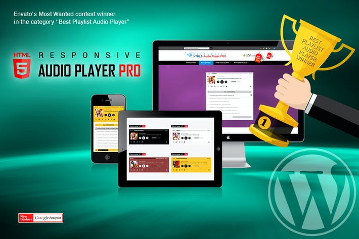 Cover Image For Responsive HTML5 Audio Player PRO WordPress Plugin