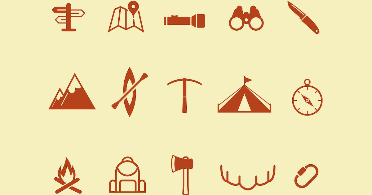 Download 15 Outdoor Adventure Icons by creativevip