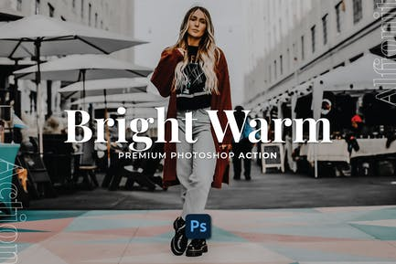 Bright Warm Photoshop Action