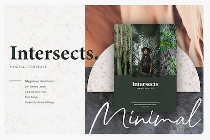 Intersects - Minimal Magazine Template