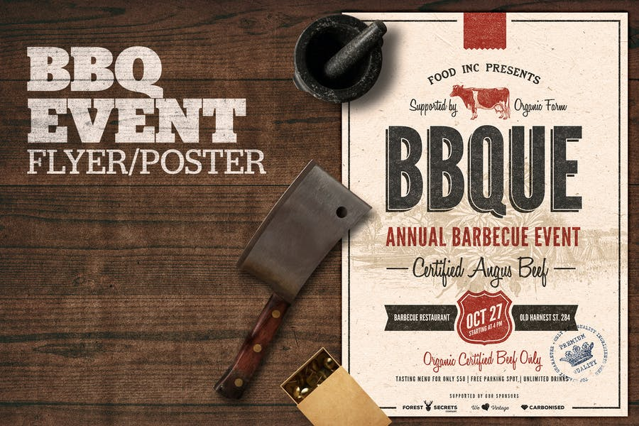 BBQ Event Flyer Poster