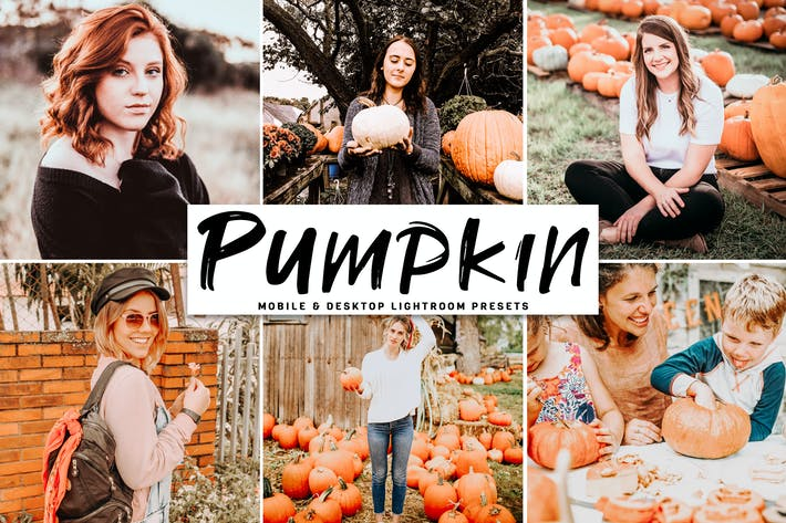 Thumbnail for Pumpkin Mobile & Desktop Lightroom Presets