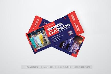 Fashion Exhibition Ticket Template