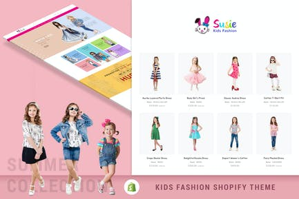 Susie | Kids Fashion Sectioned Shopify Theme