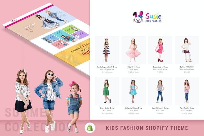 Thumbnail for Susie | Kids Fashion Sectioned Shopify Theme
