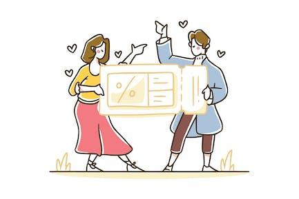 Tokostore - Discount voucher illustration