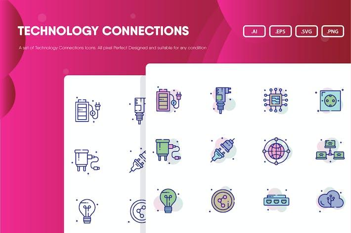 Technologie-Verbindungs-Icon